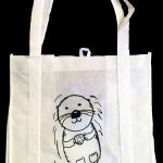 Sea otter grocery tote